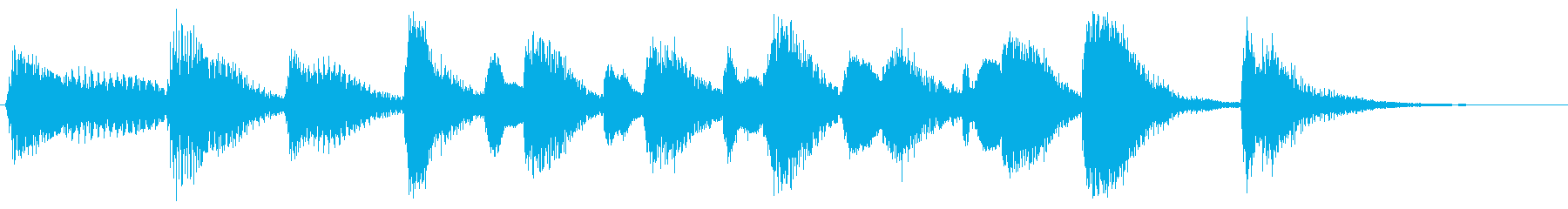 ラグタイムピアノの再生済みの波形