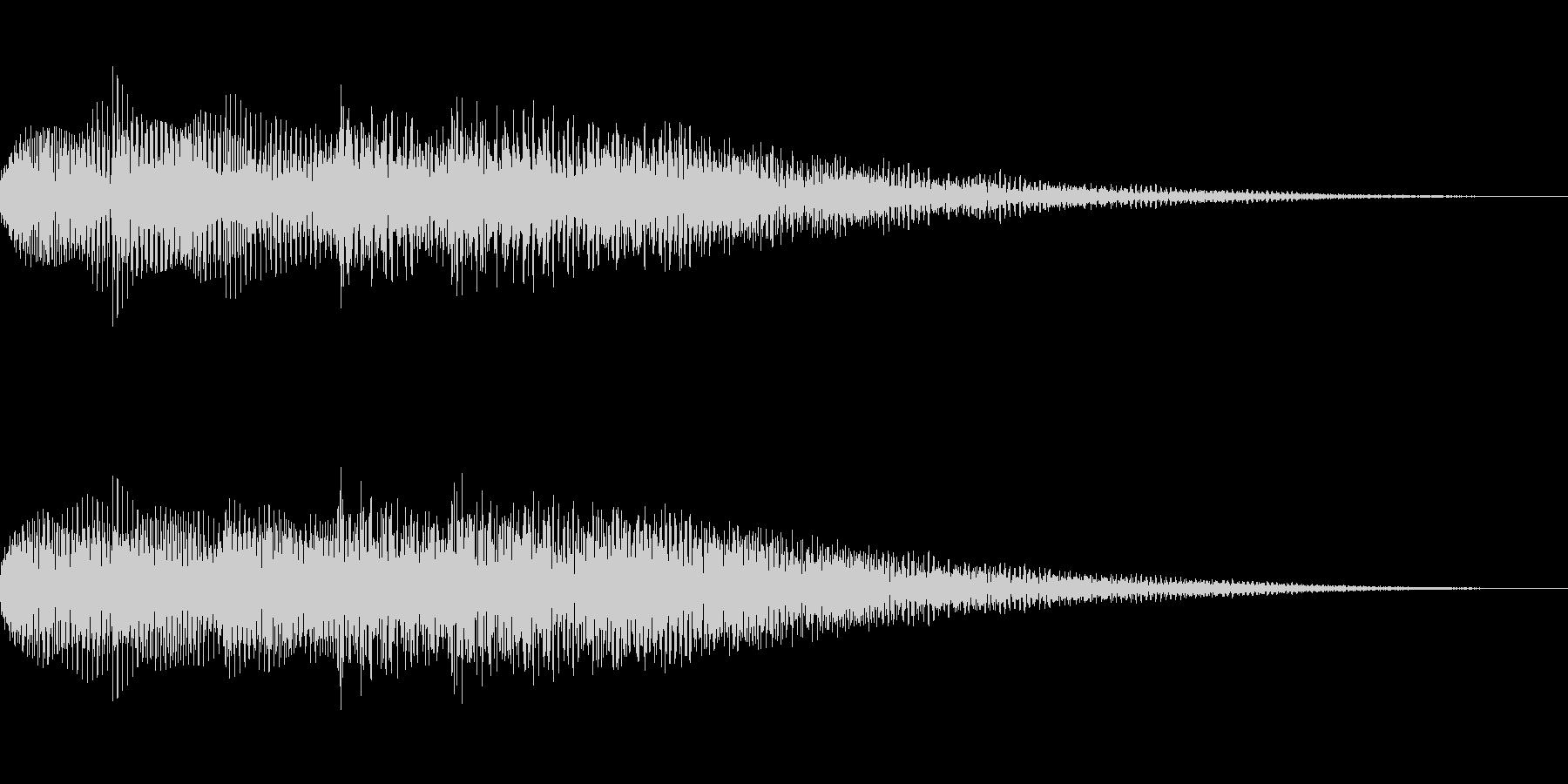 柔らかいイメージのサウンドロゴ、ジングルの未再生の波形