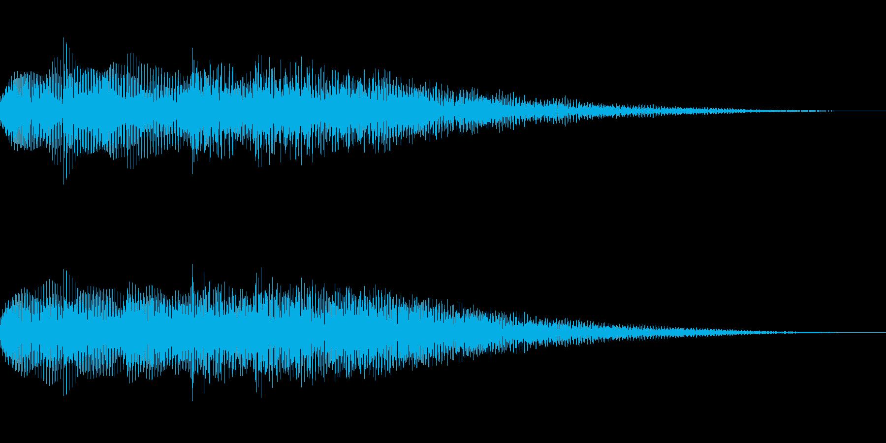 柔らかいイメージのサウンドロゴ、ジングルの再生済みの波形