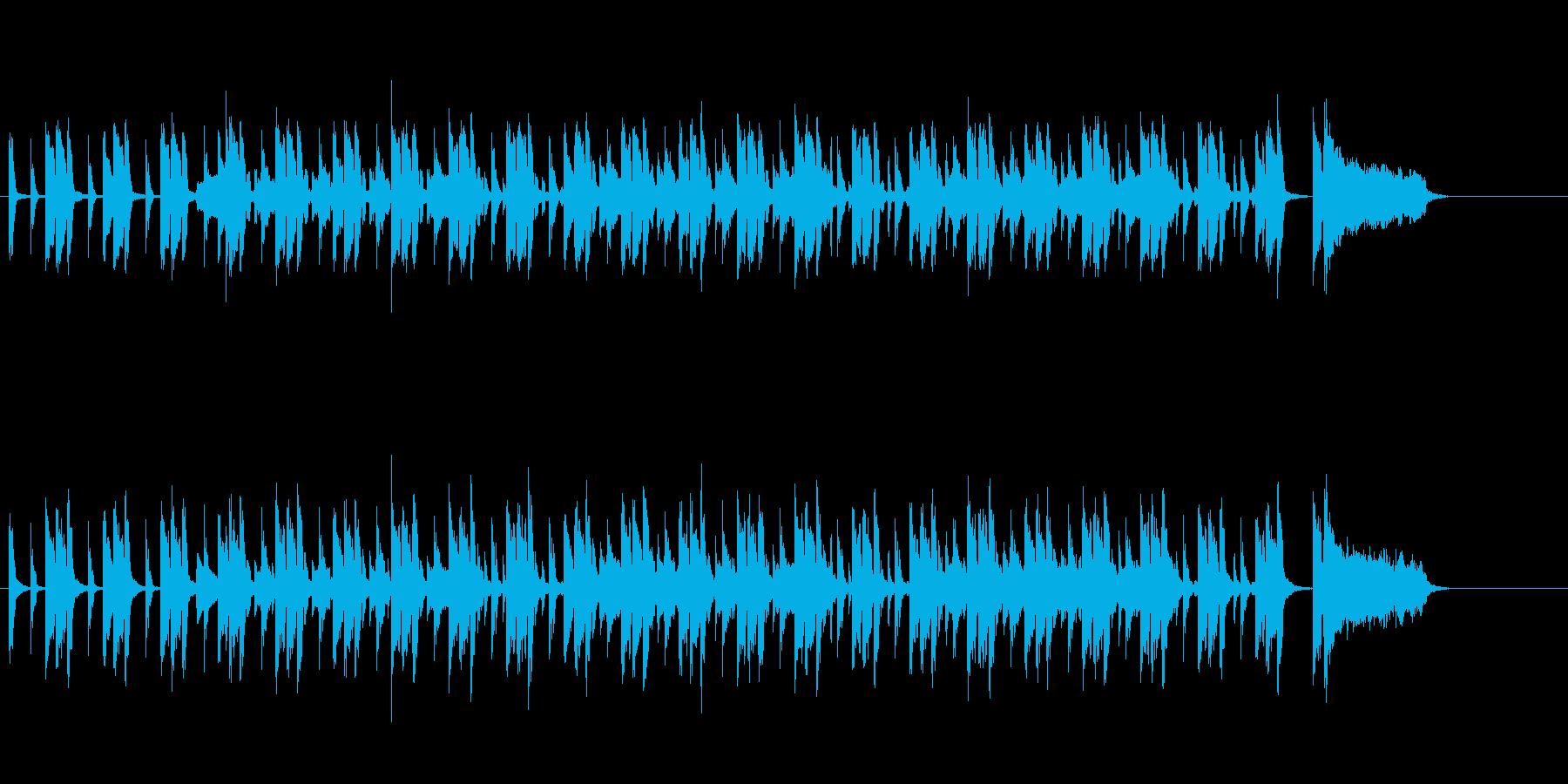 単調でシンプルなフュージョン風の再生済みの波形