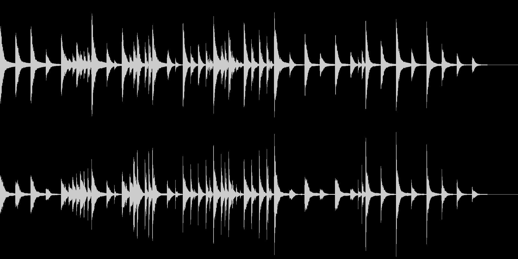 静かな雰囲気の綺麗なピアノの未再生の波形