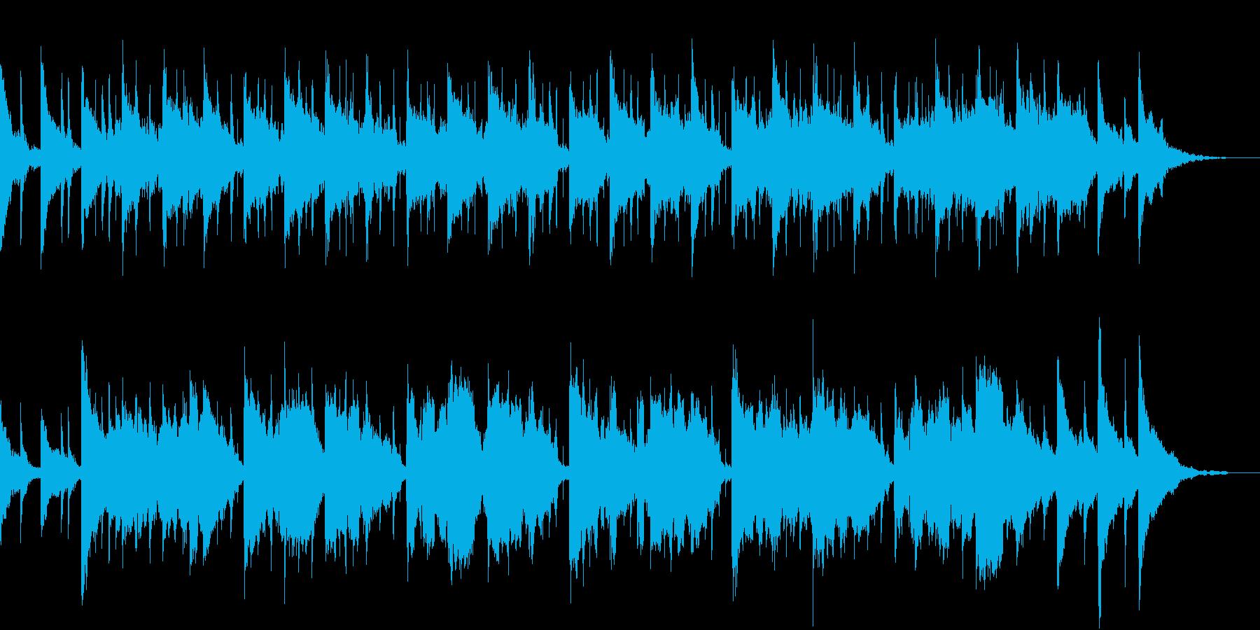心休まる、素朴な3拍子の曲の再生済みの波形