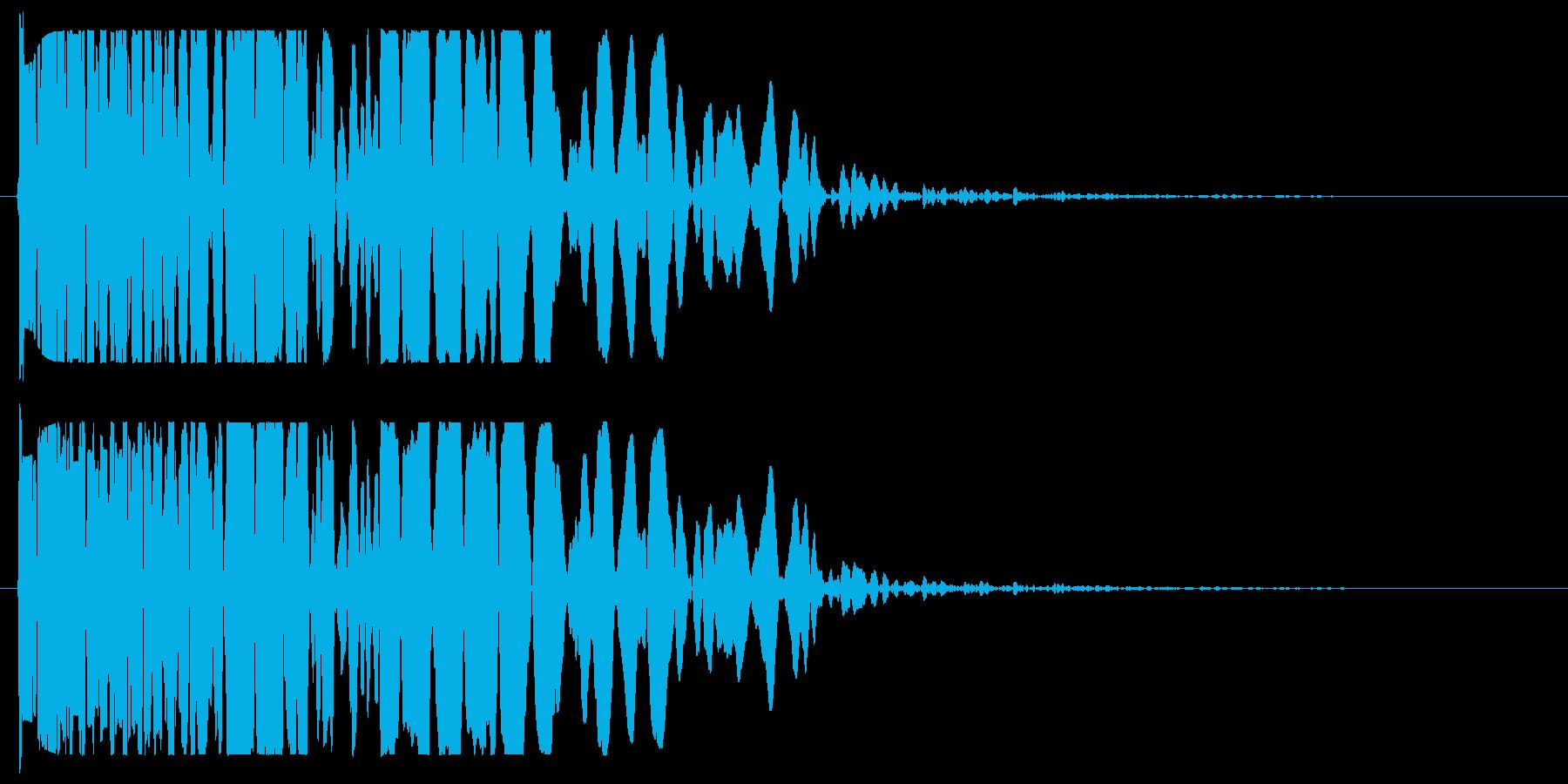 ドーン(濁りのある爆発音)の再生済みの波形