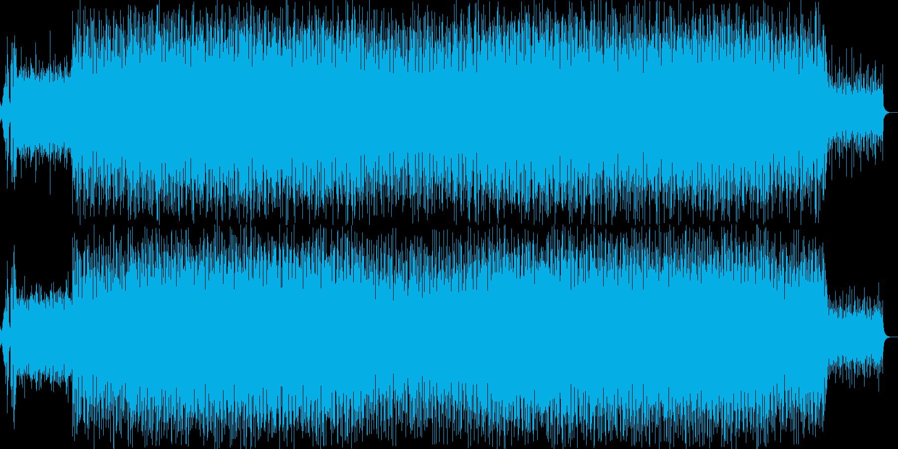 シンセアンサンブルによるポップで軽快な曲の再生済みの波形