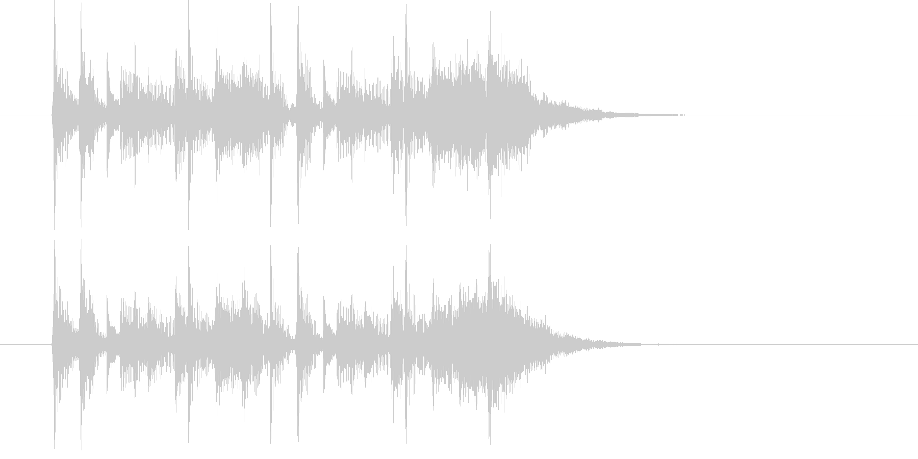 アップテンポなバンドによるジングル曲の未再生の波形