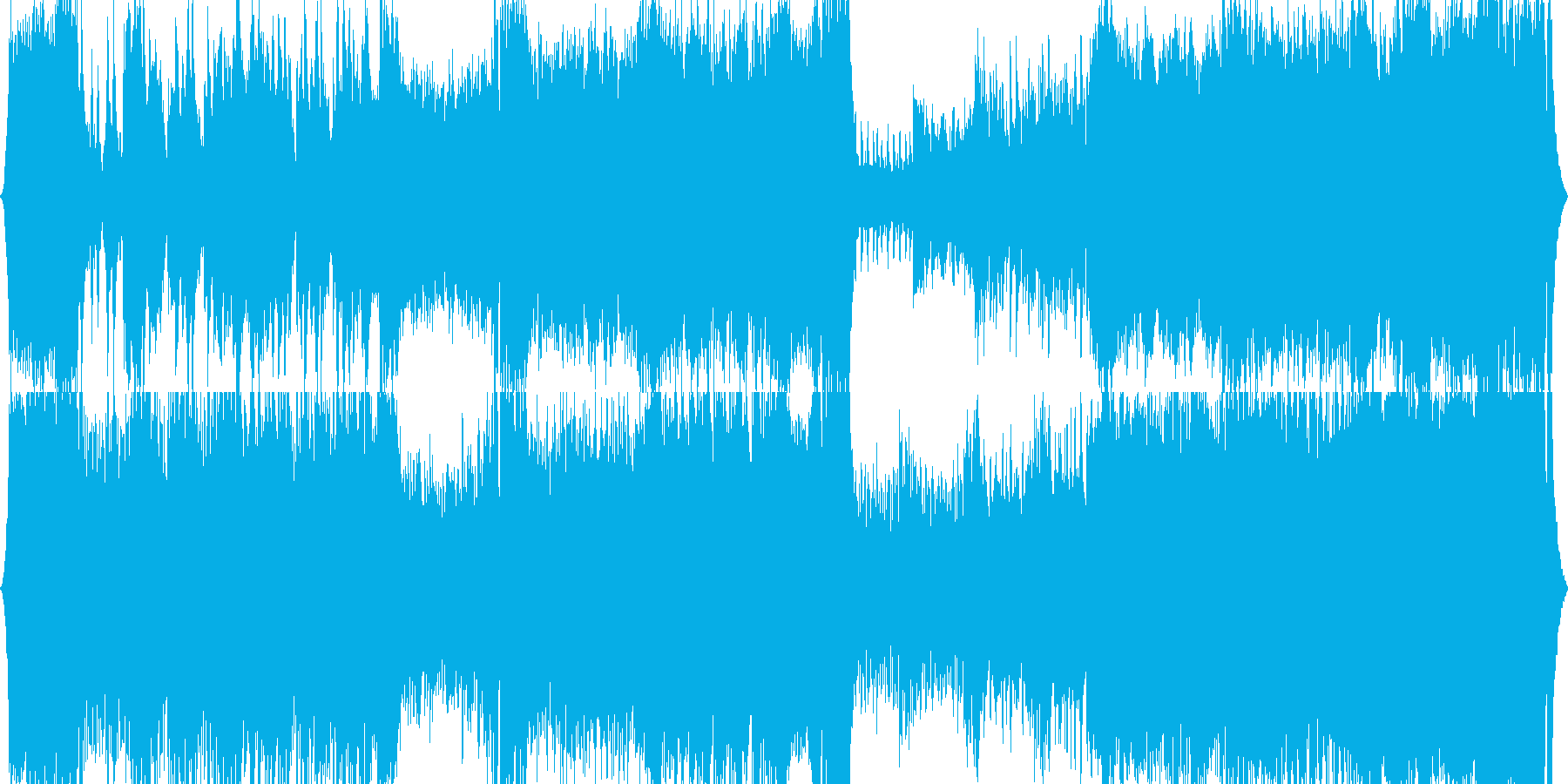 【吹奏楽オーケストラ】オープニングBGMの再生済みの波形