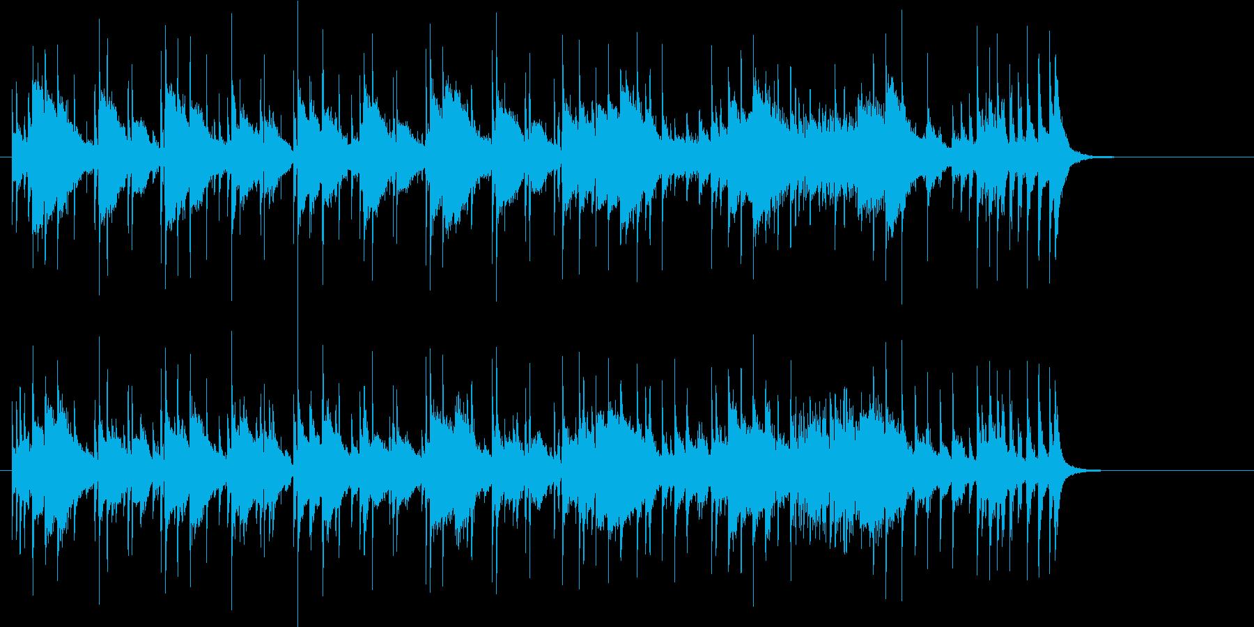 オープニング向きのサウンドの再生済みの波形