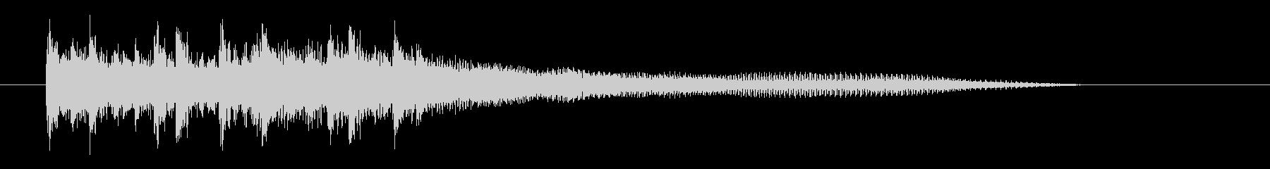 スピード感あるロックなエレキジングルの未再生の波形