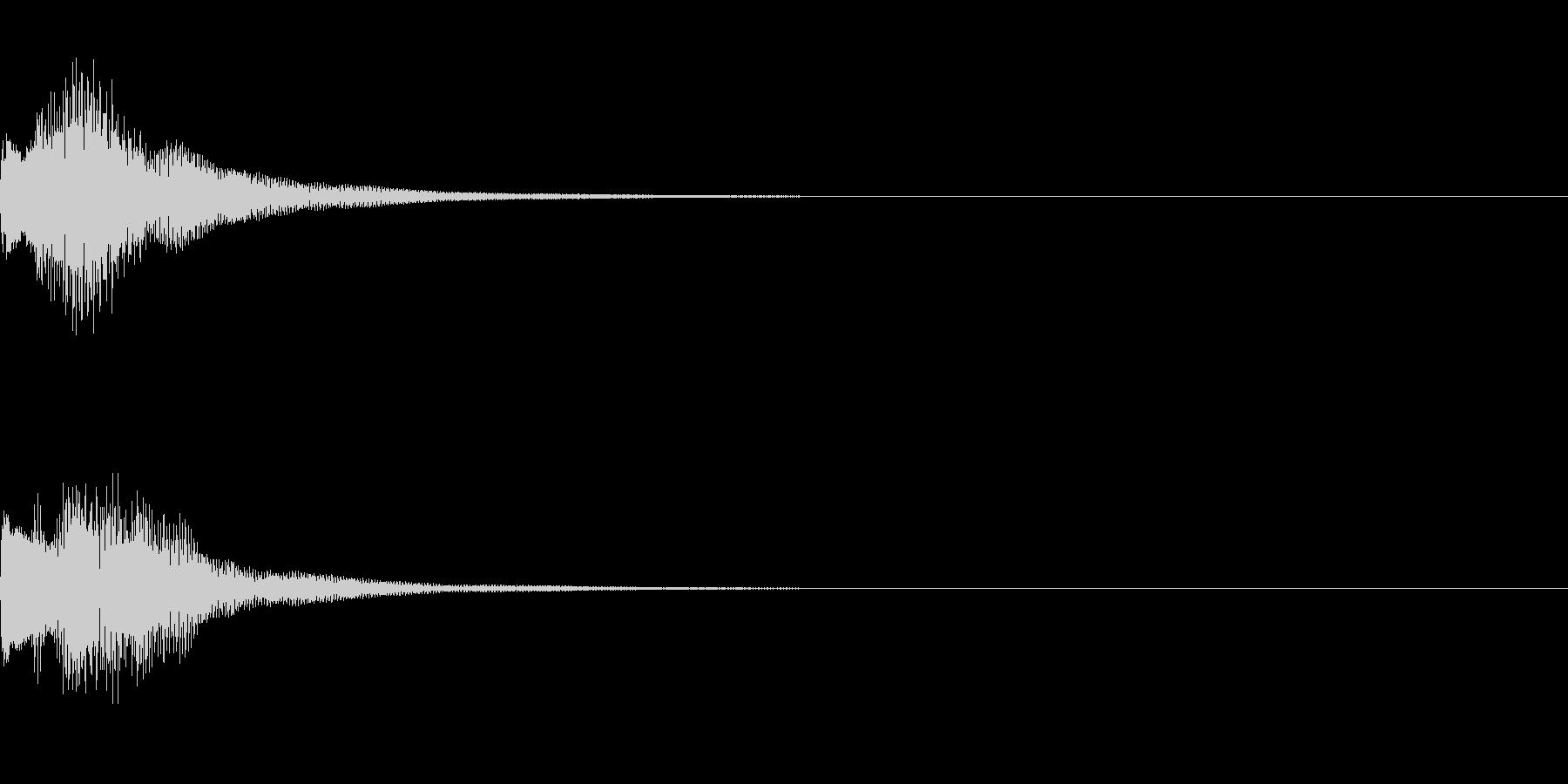テレレレン 下がる (ゲーム効果音)の未再生の波形