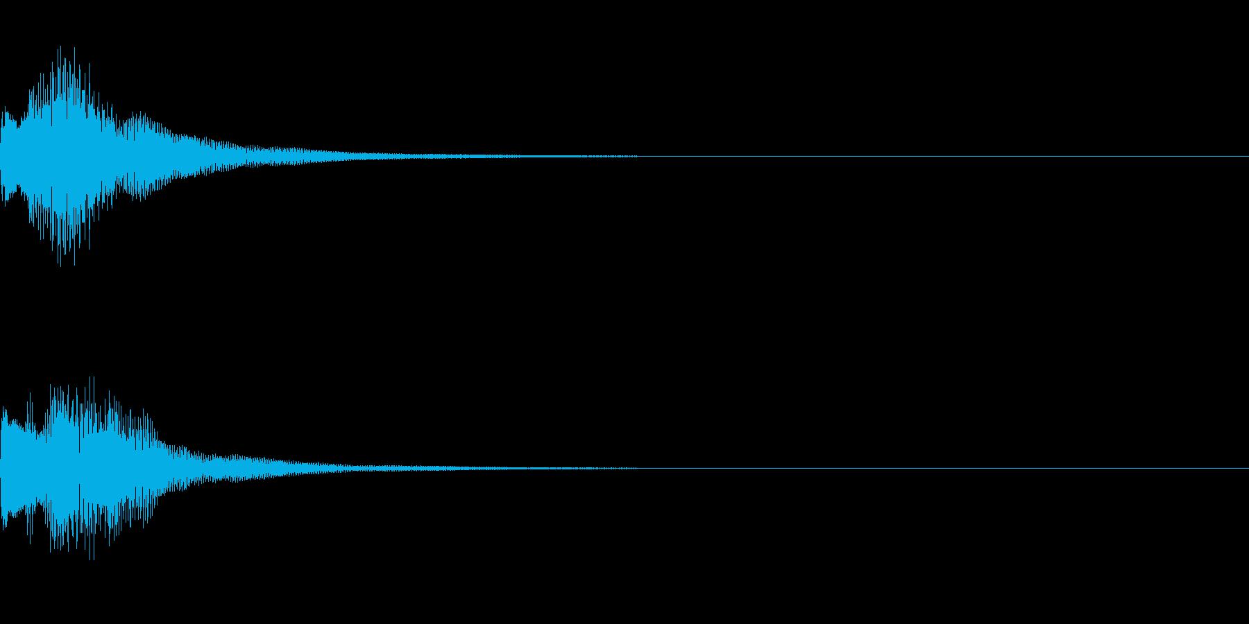 テレレレン 下がる (ゲーム効果音)の再生済みの波形