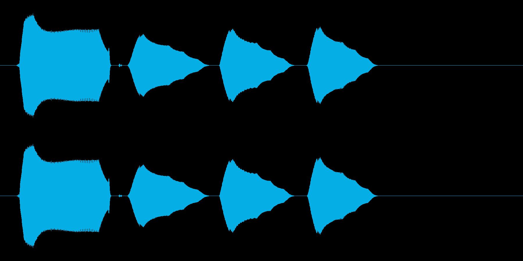 小鳥の明るい鳴き声(短い)の再生済みの波形