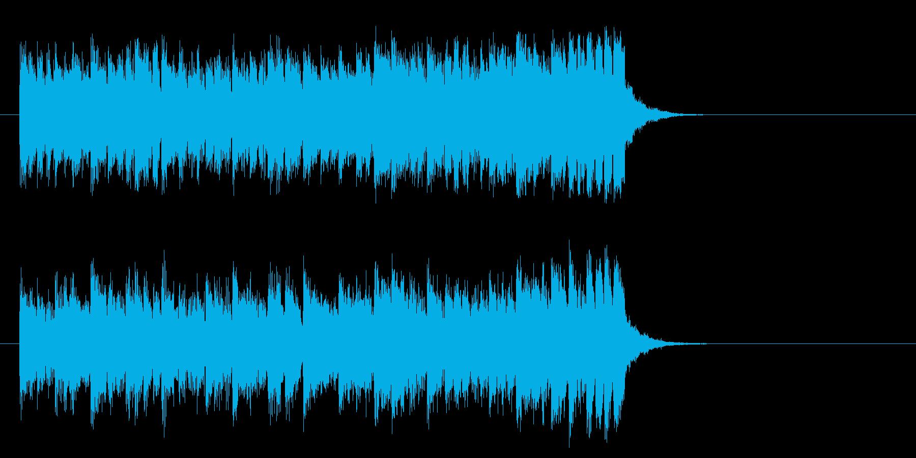 元気なテーマ・ポップス(サビ)の再生済みの波形