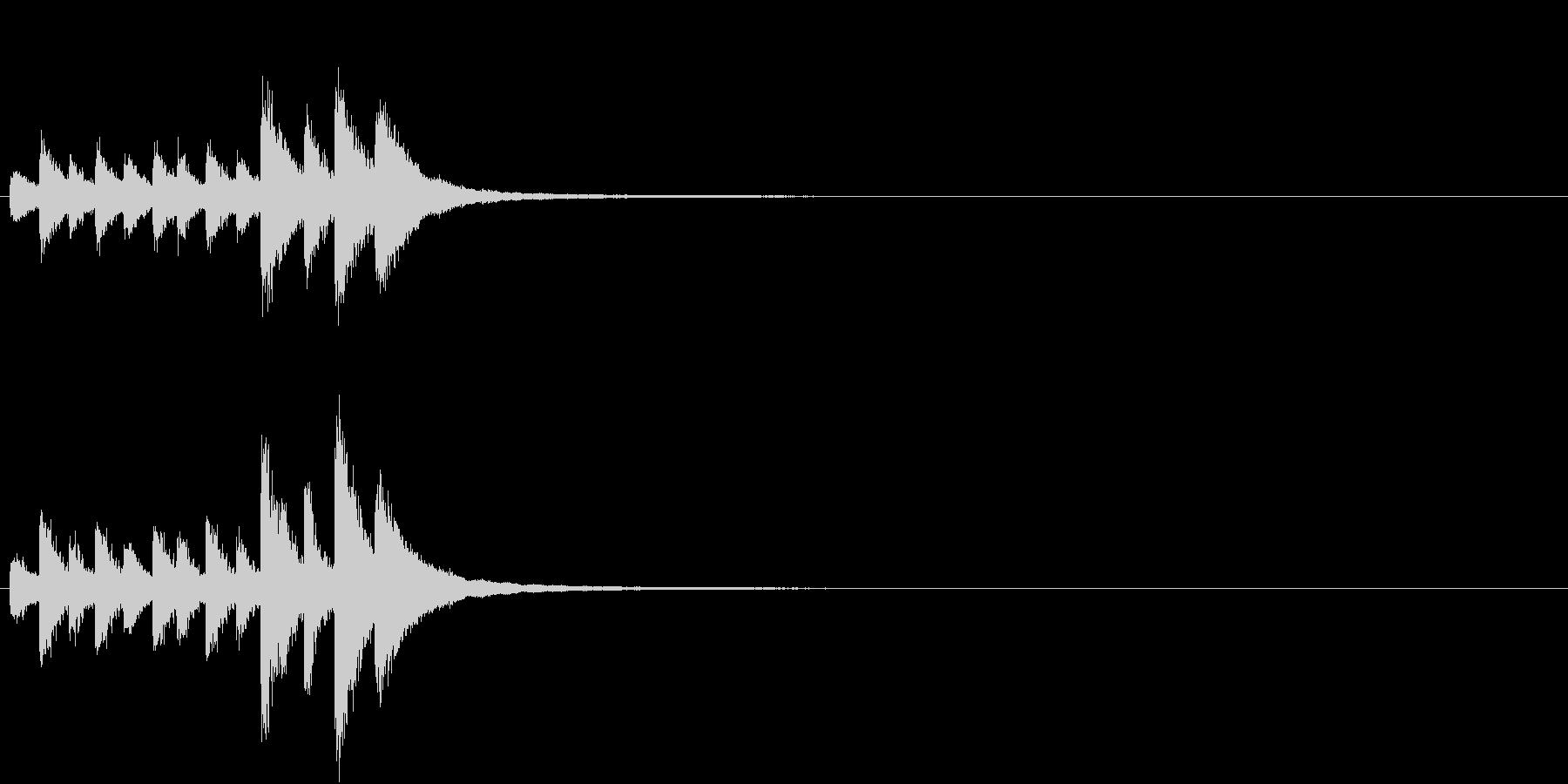 音侍「チチチ…」お囃子祭り当り鉦の連打音の未再生の波形
