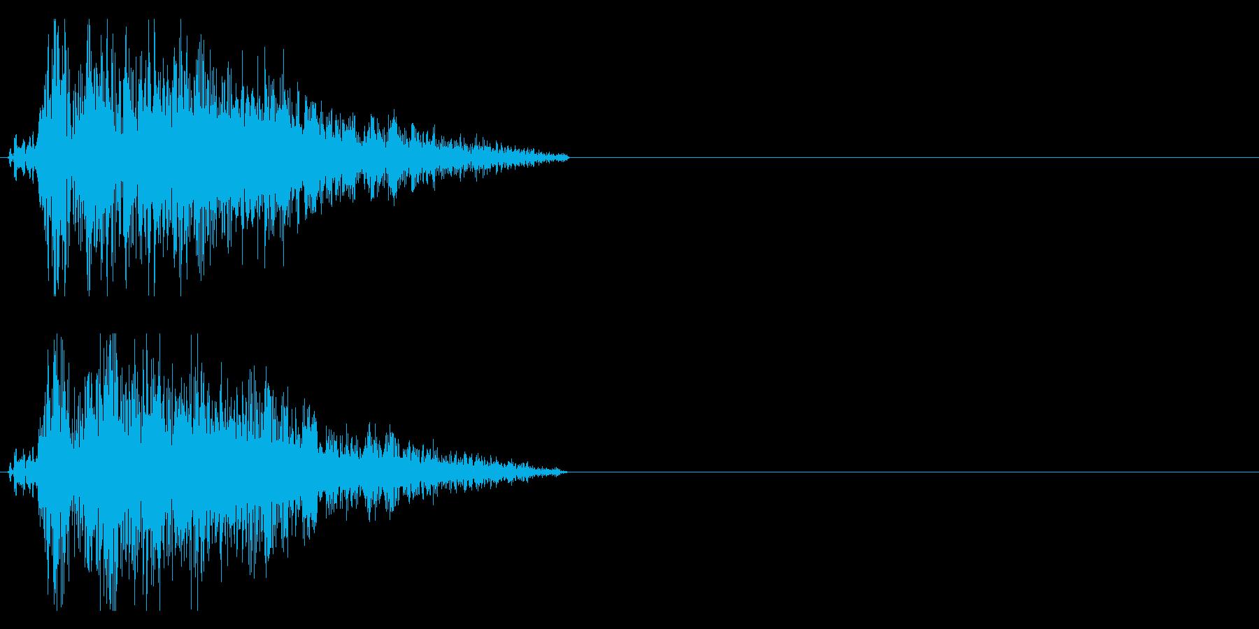 ブシャッ 斬撃音の再生済みの波形