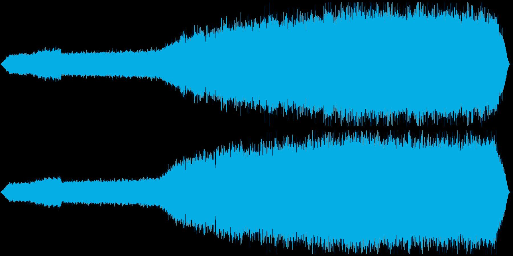 ミーンミーン 北海道の蝉 音景色 その3の再生済みの波形