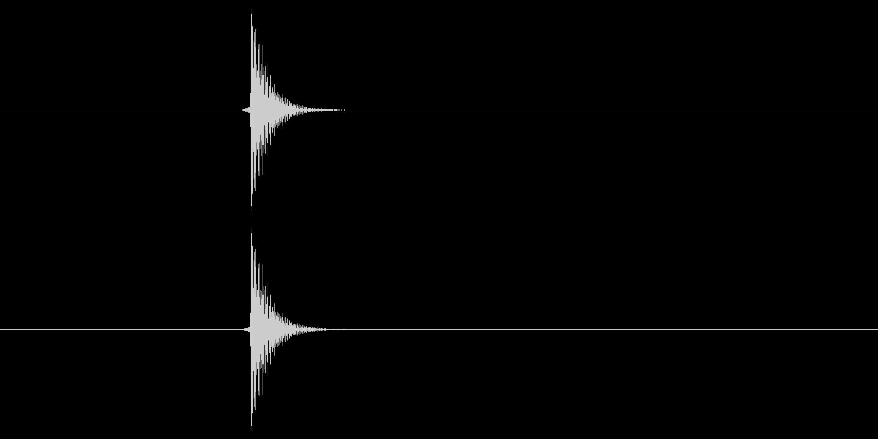 「タンッ」キャンセルや戻る時に使えるボ…の未再生の波形