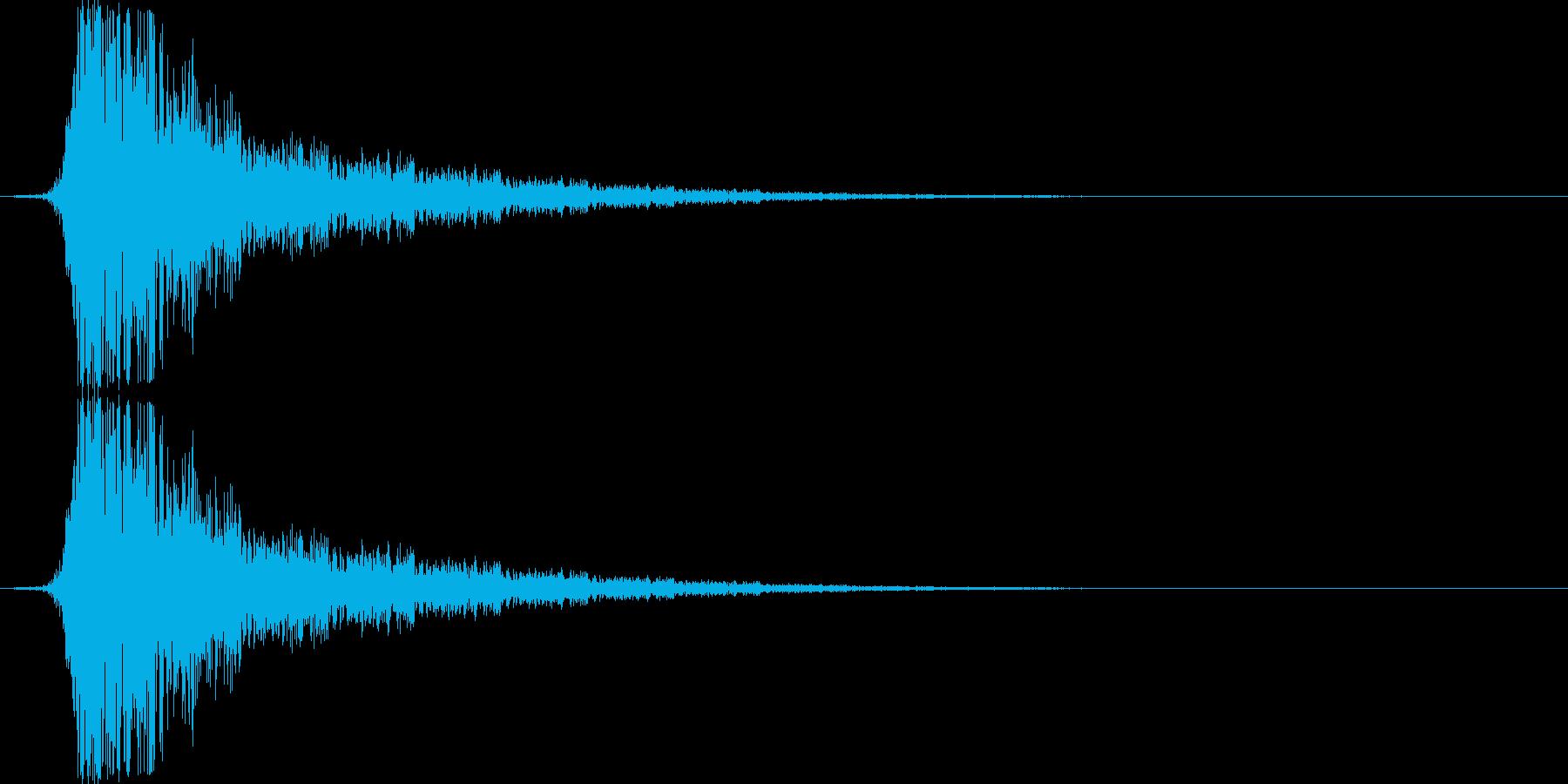 金属質な空を切る音(シュッ/シュン)の再生済みの波形
