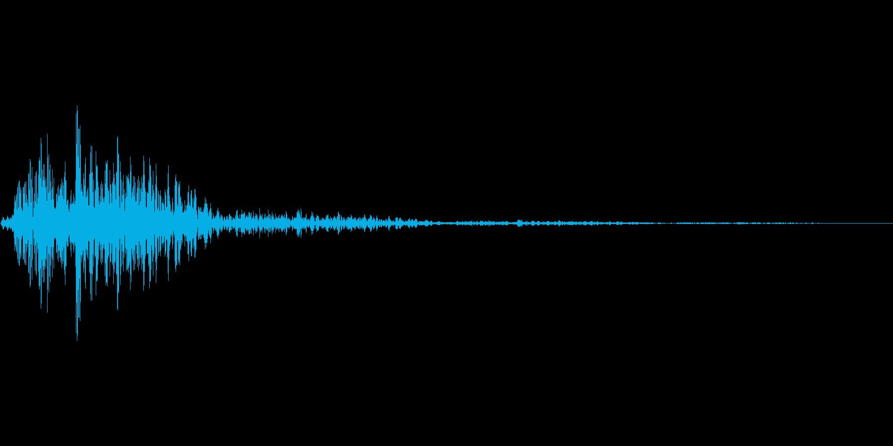 シュバッ(選択音)の再生済みの波形
