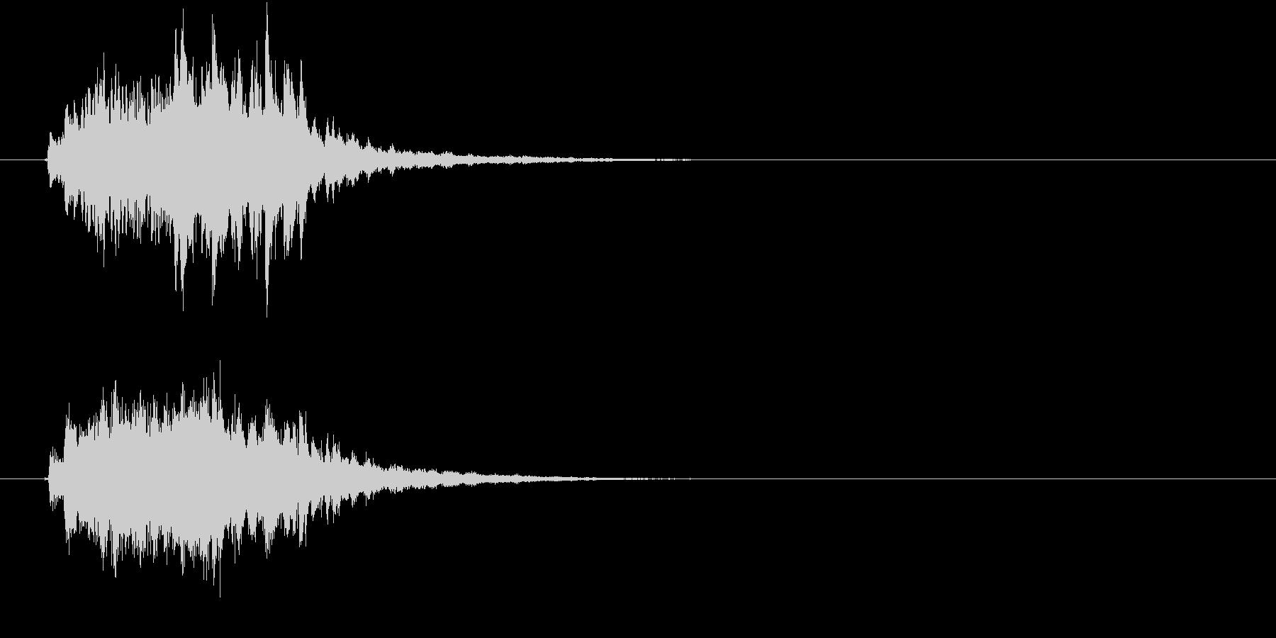 綺麗でメルヘンなファンタジーサウンドロゴの未再生の波形