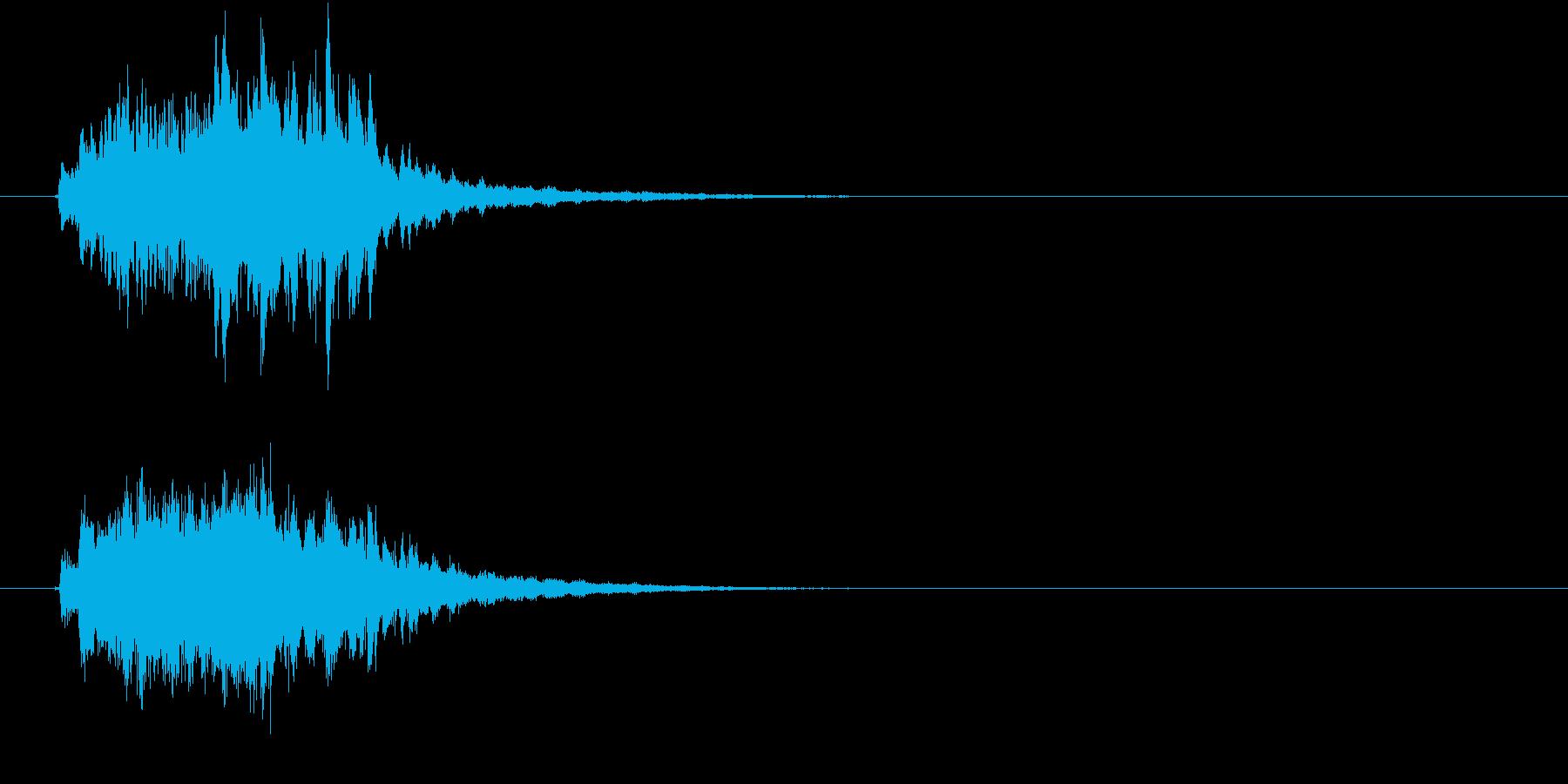 綺麗でメルヘンなファンタジーサウンドロゴの再生済みの波形