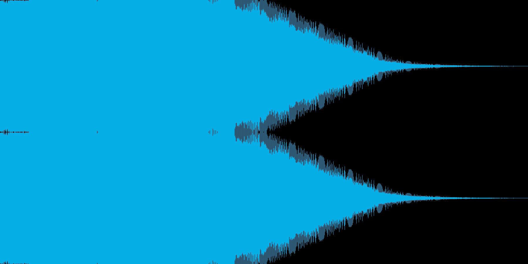 落下、下降電子音の再生済みの波形