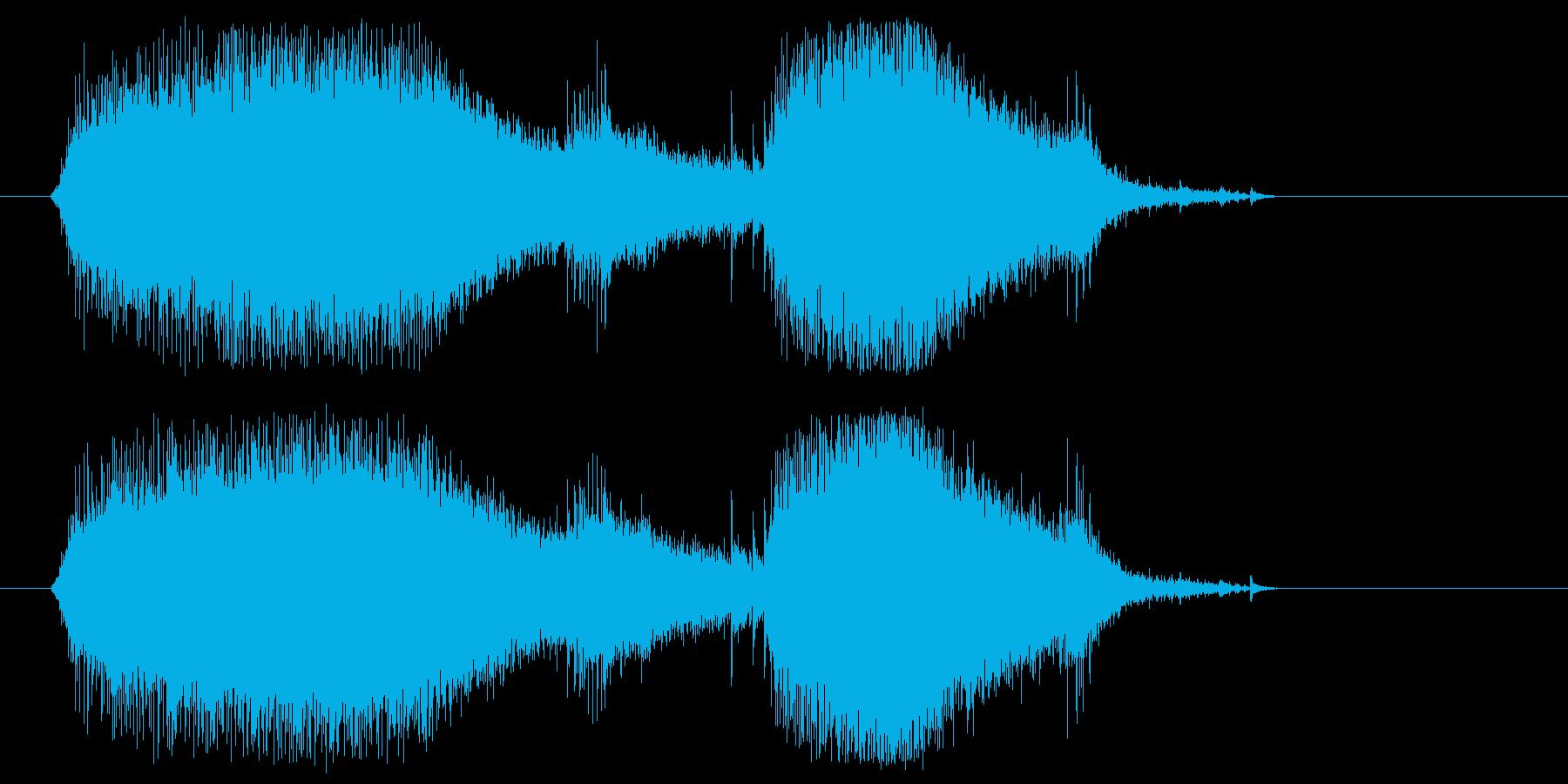 チェーンソーやバイクのエンジン音5の再生済みの波形