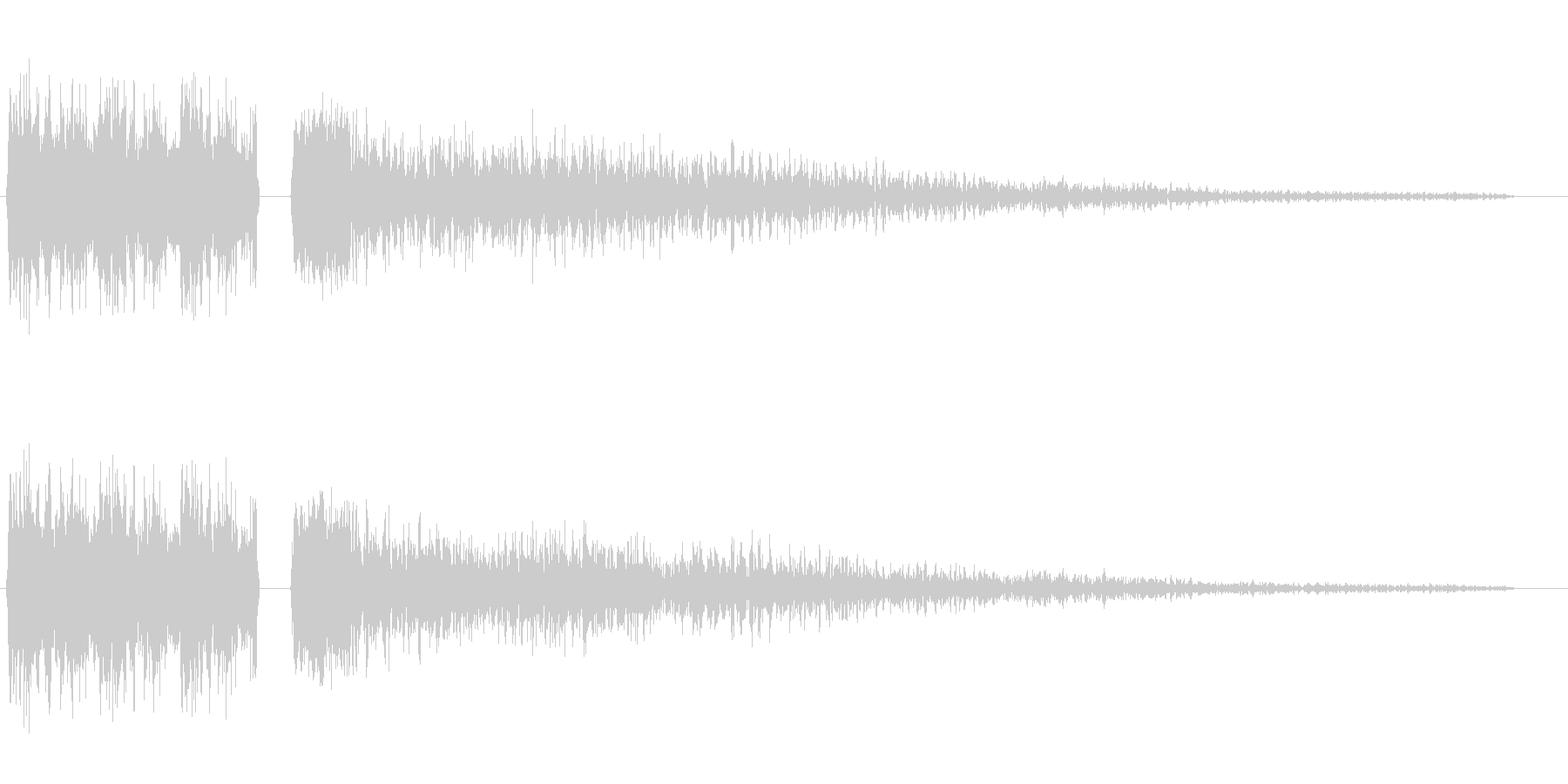 シュワワ・キラーン(切替)の未再生の波形