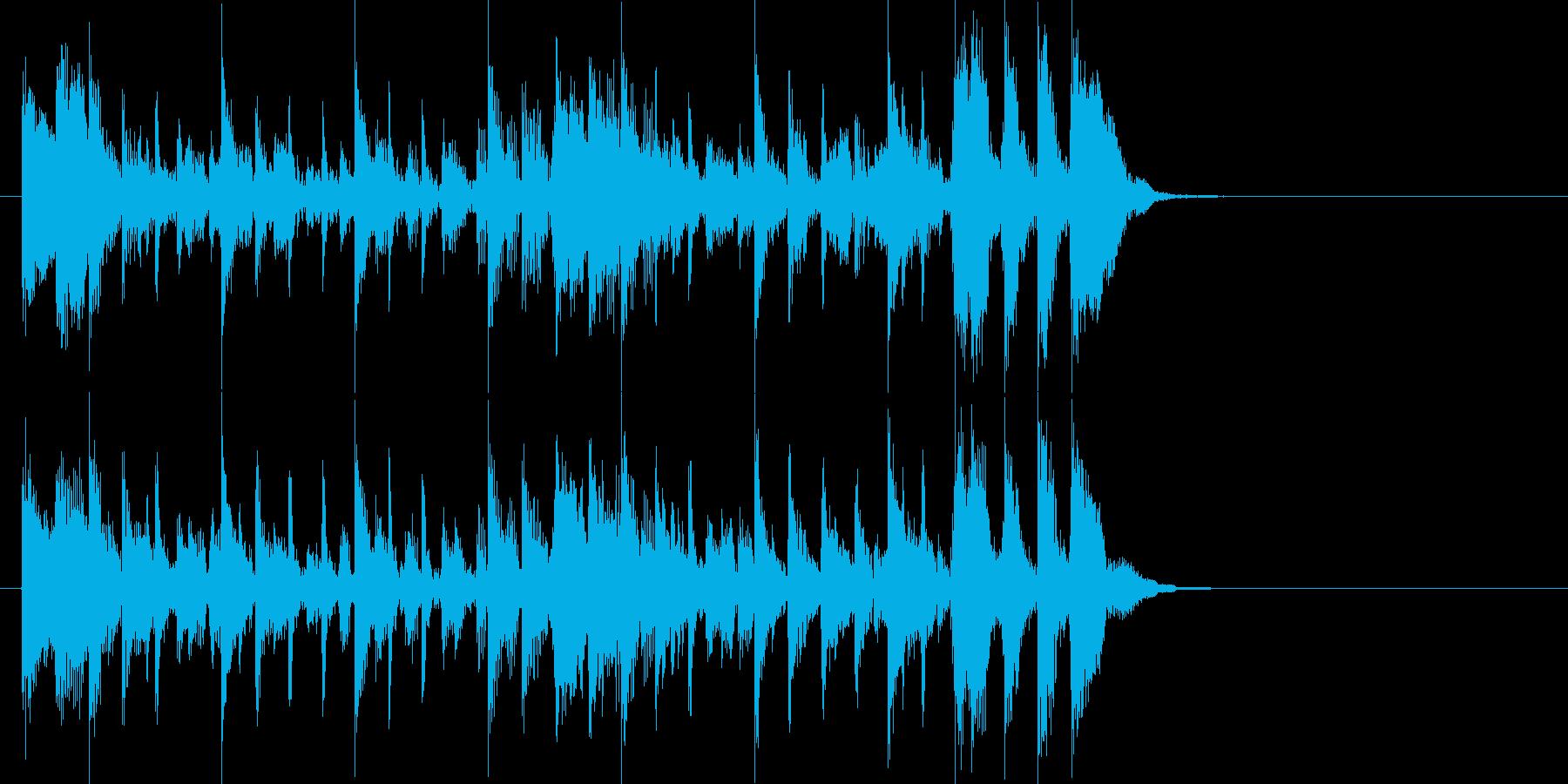 ベースラインが特徴的な淡々としたジングルの再生済みの波形