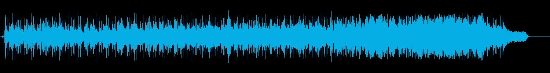 感傷的なニューミュージック風ポップスの再生済みの波形