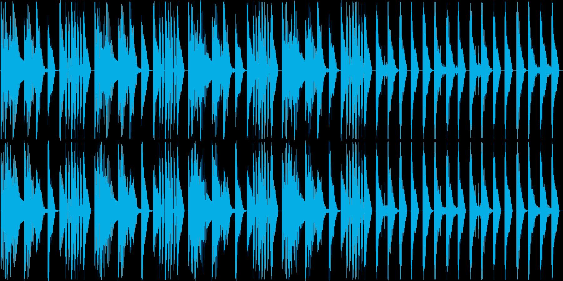 ほぼリズムだけの曲ですの再生済みの波形