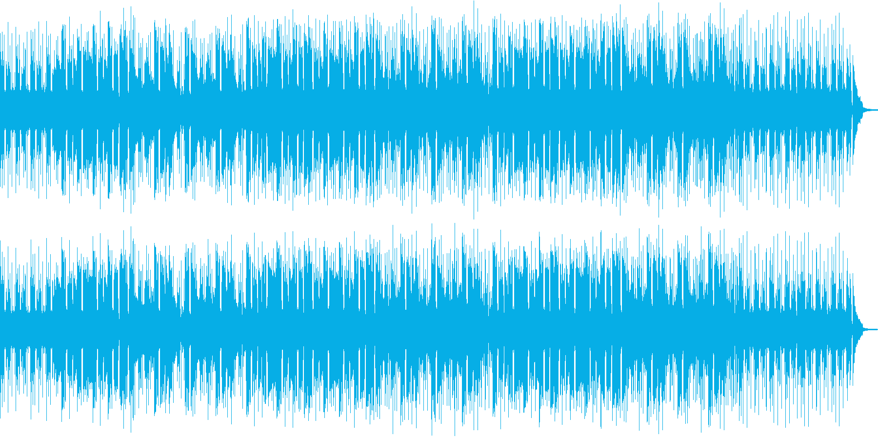 紹介動画に最適な、疾走感のある爽やかな曲の再生済みの波形