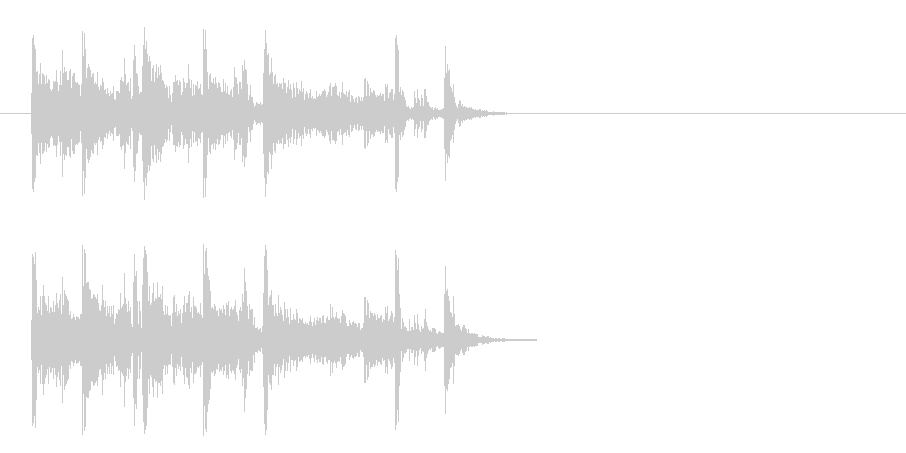 ジングル/のんびりとしたポップ(ジャズ)の未再生の波形