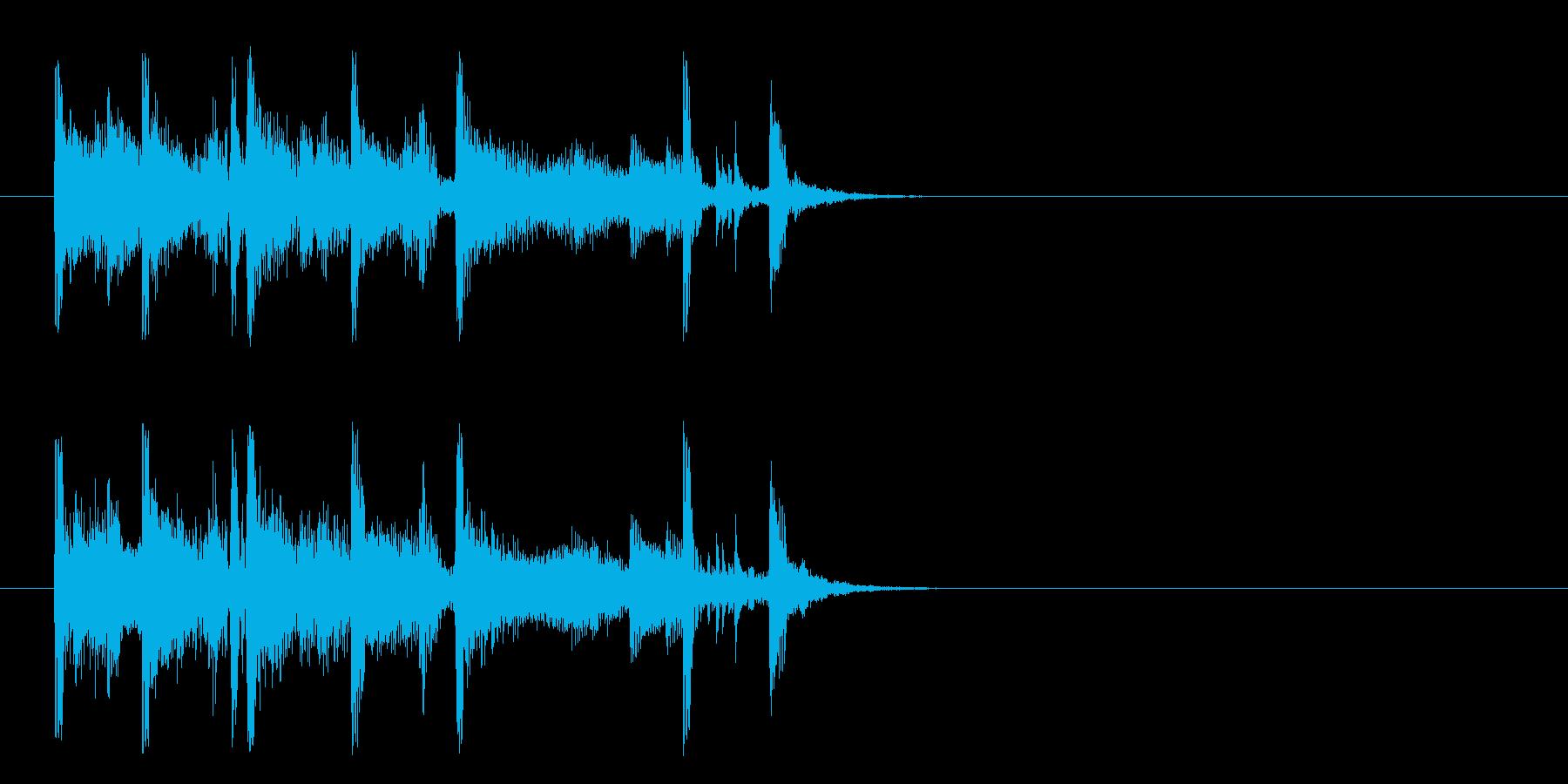 ジングル/のんびりとしたポップ(ジャズ)の再生済みの波形
