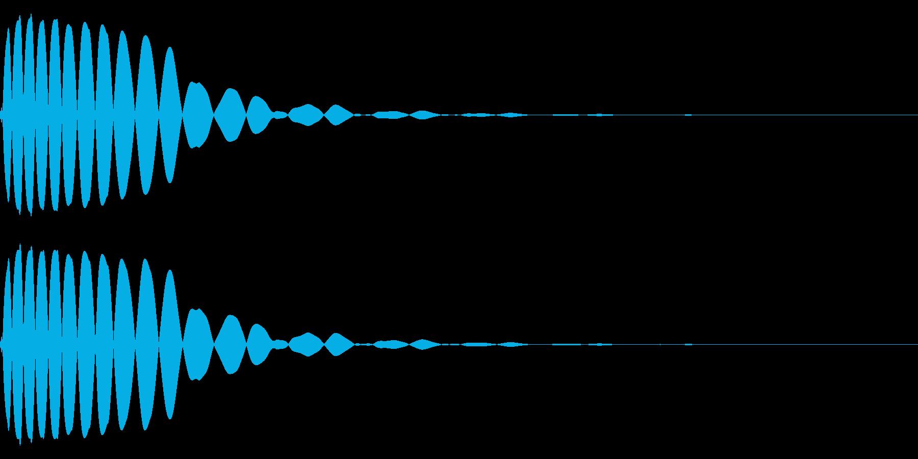 EDMやIDM系のバスドラム!06bの再生済みの波形