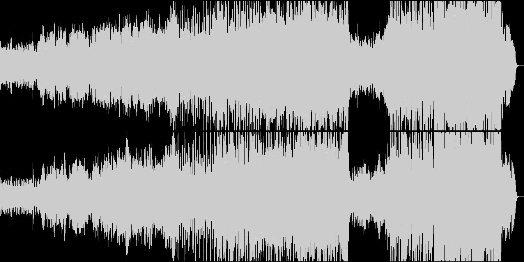 静かなピアノから壮大なオケ①全楽器フル版の未再生の波形