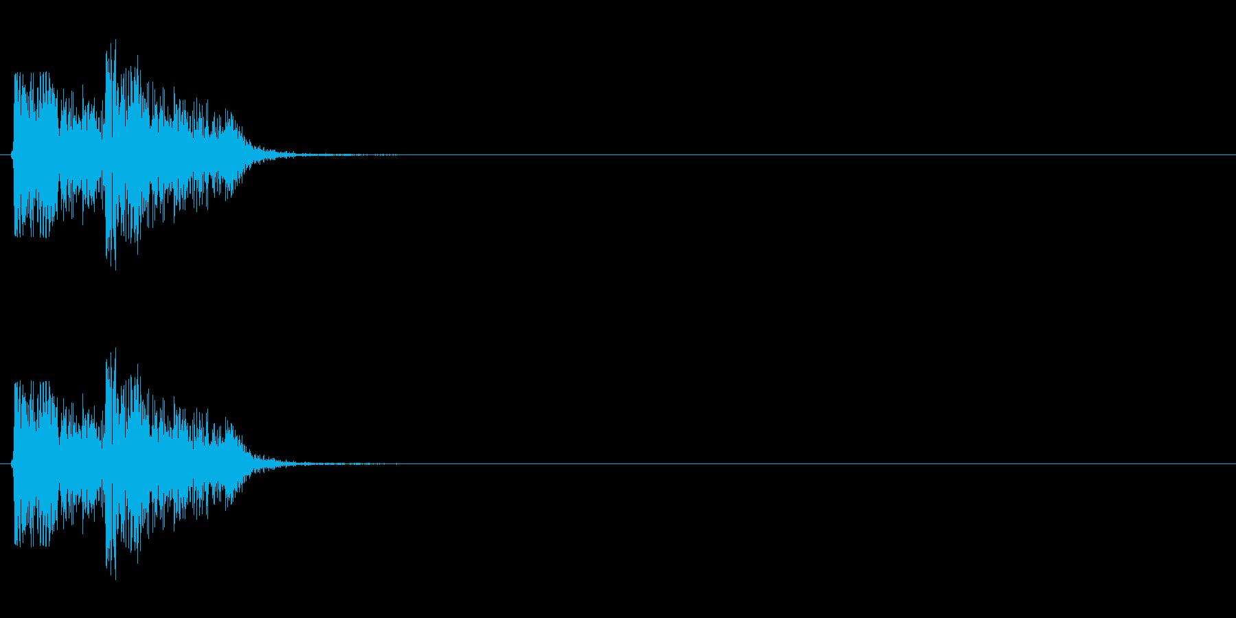 【打撃02-3】の再生済みの波形