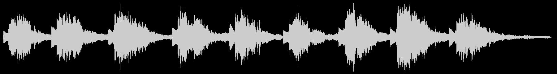 波のような癒し系BGM/ピアノ生演奏の未再生の波形