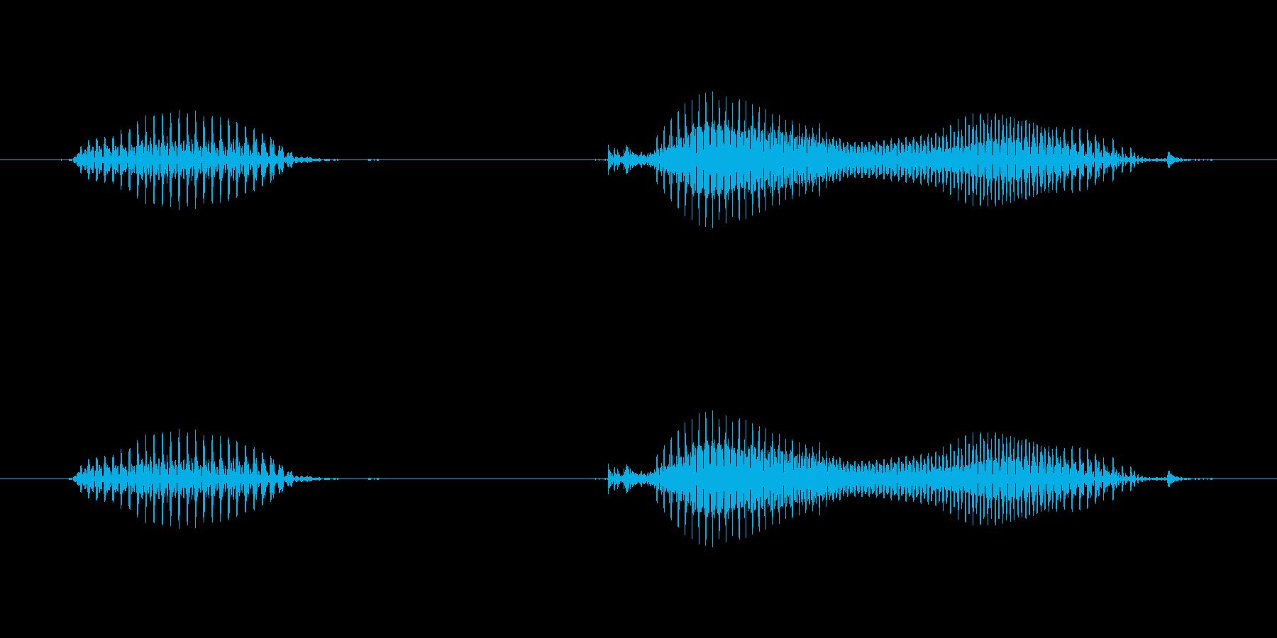 【日数・後】3日後の再生済みの波形