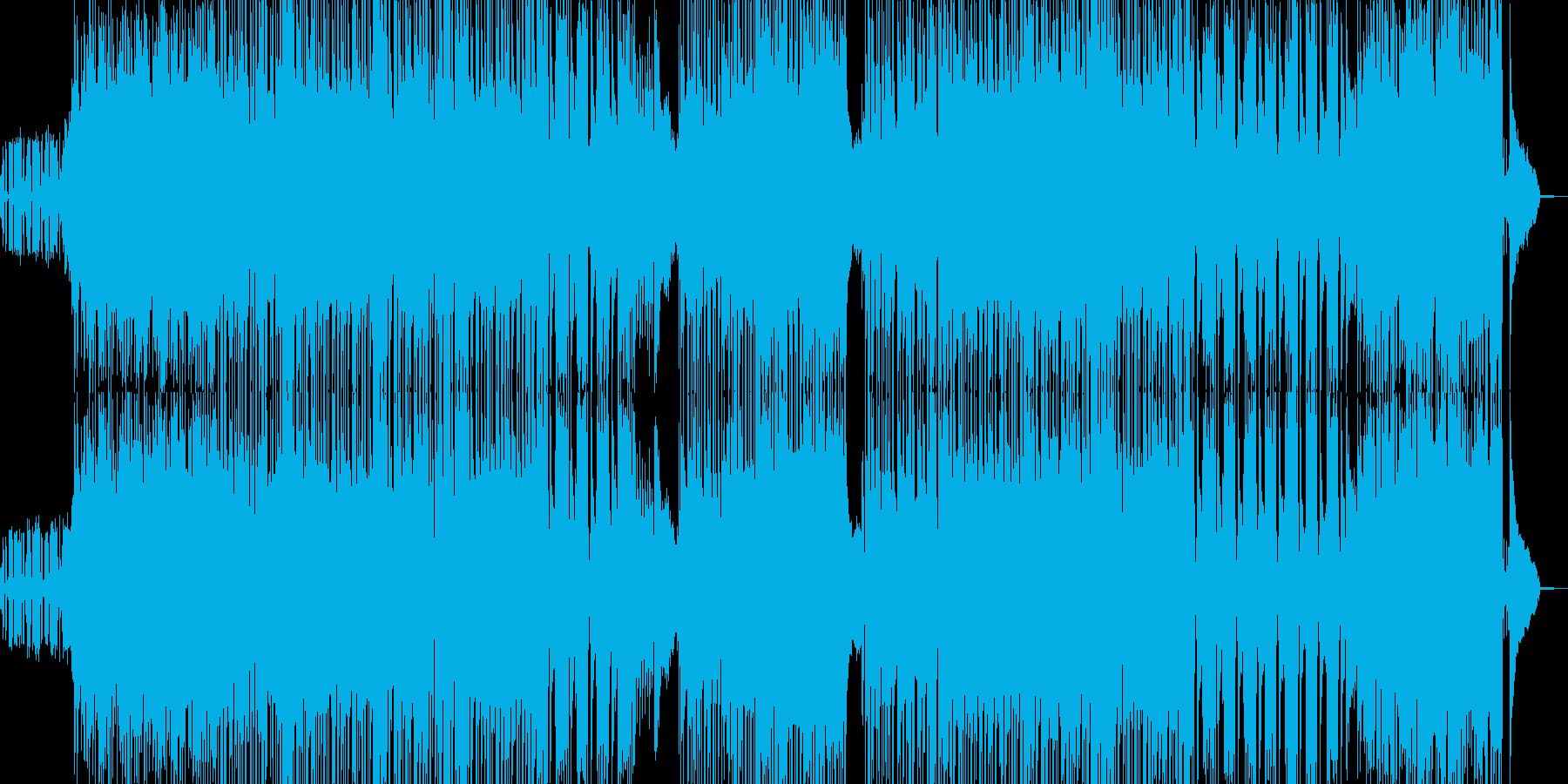 夜のドライブを演出するサックス&ベースの再生済みの波形