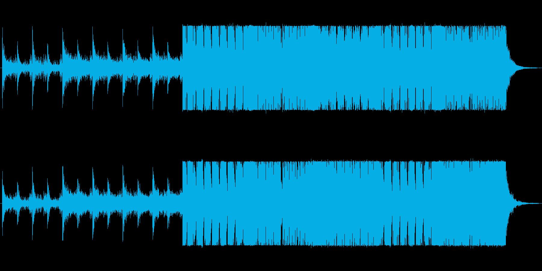 【よさこい系】和風ダンス曲の再生済みの波形