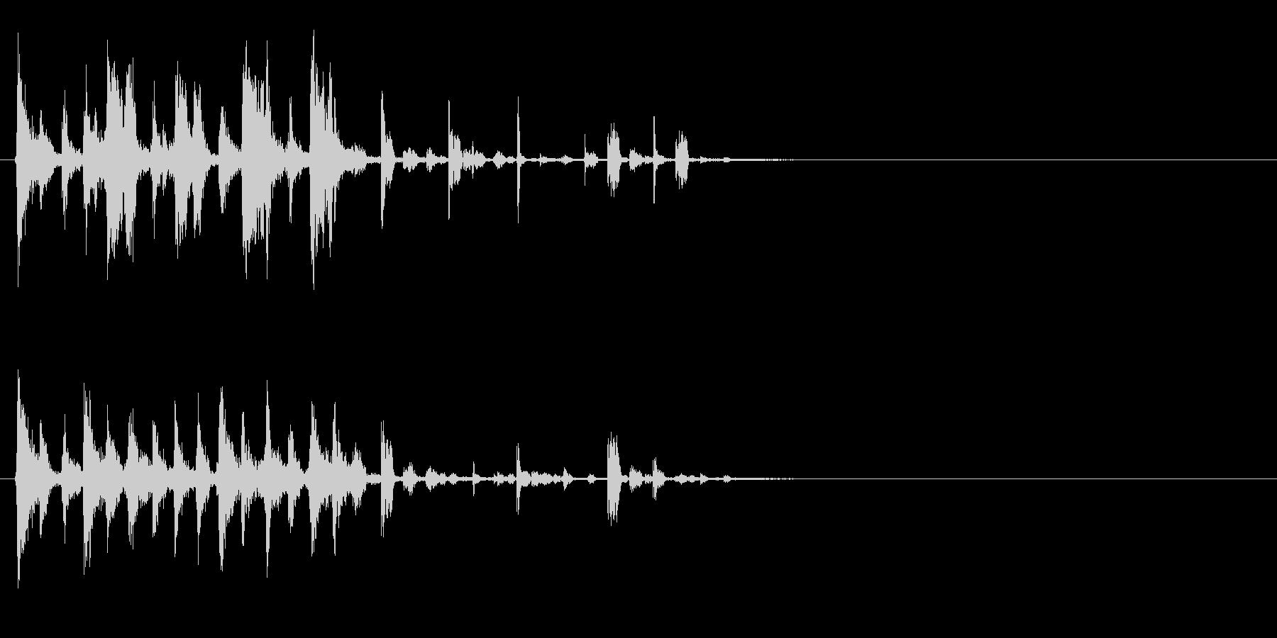 リズム系映像のテーマテロップ音の未再生の波形