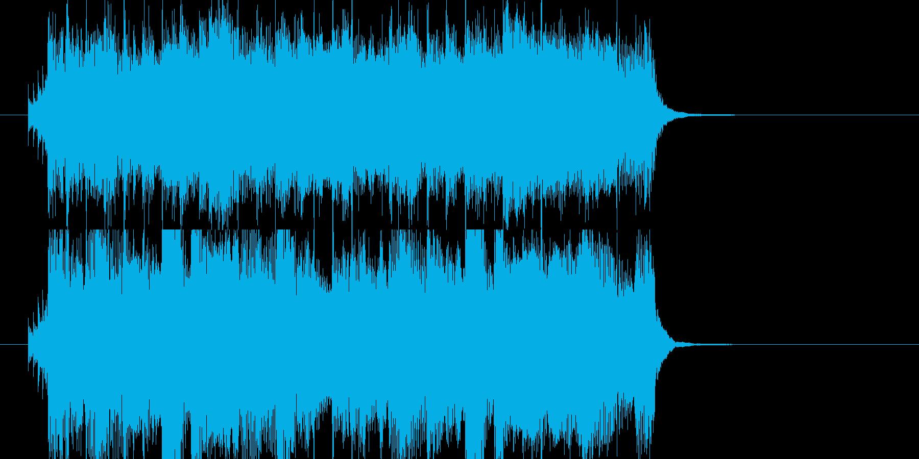 明るいエンディング風なBGMの再生済みの波形