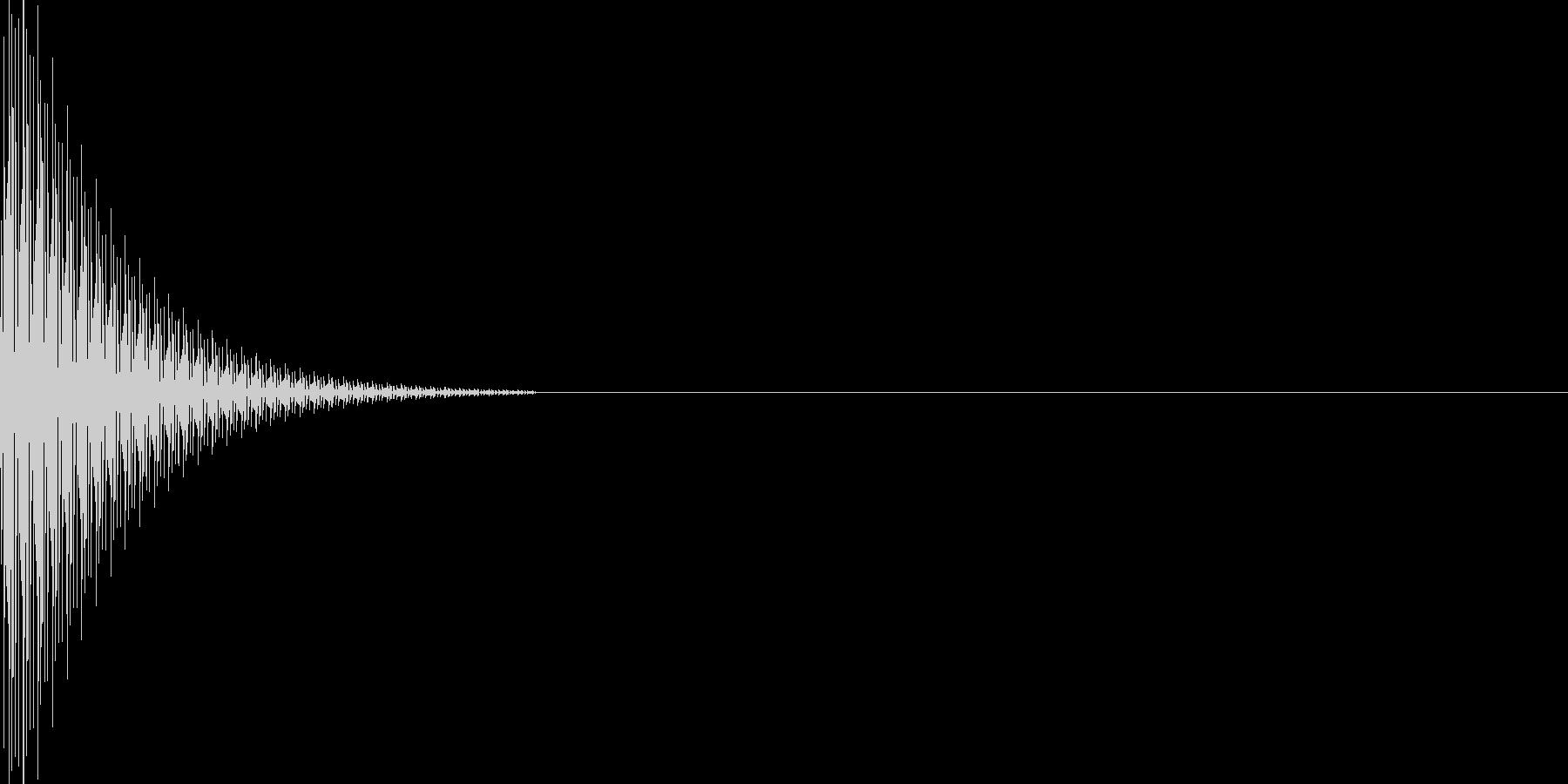 ゲームのキャンセル・エラー音の未再生の波形