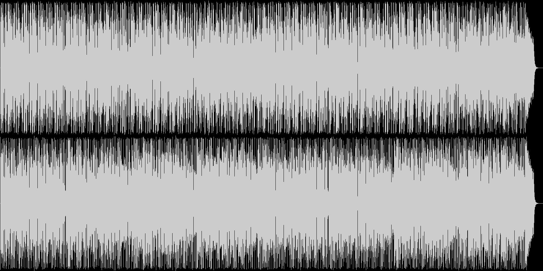 明るく温かい雰囲気のボサノバの未再生の波形