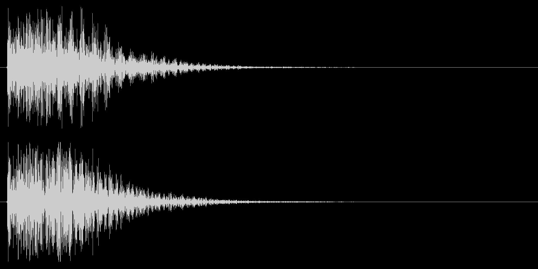 エラー音や攻撃をはじく様な音ですの未再生の波形