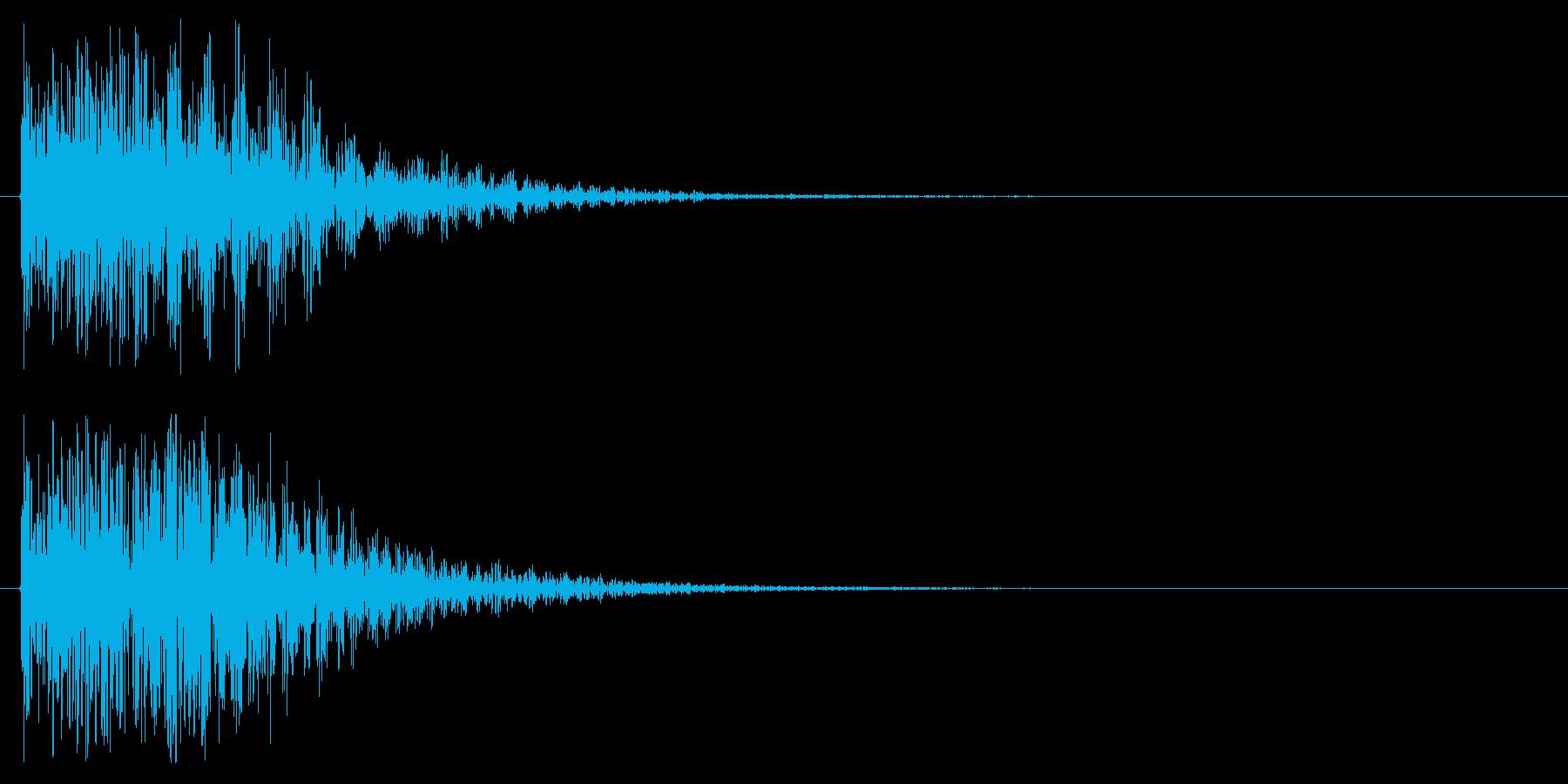 エラー音や攻撃をはじく様な音ですの再生済みの波形