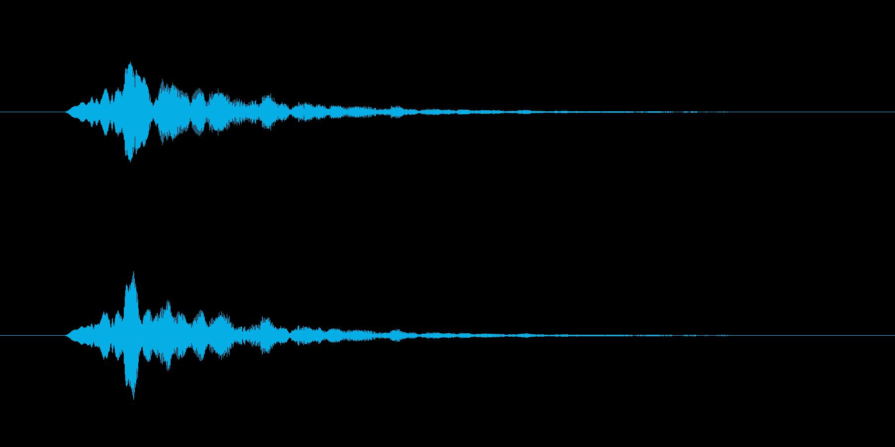 ひゅーんという音です。の再生済みの波形
