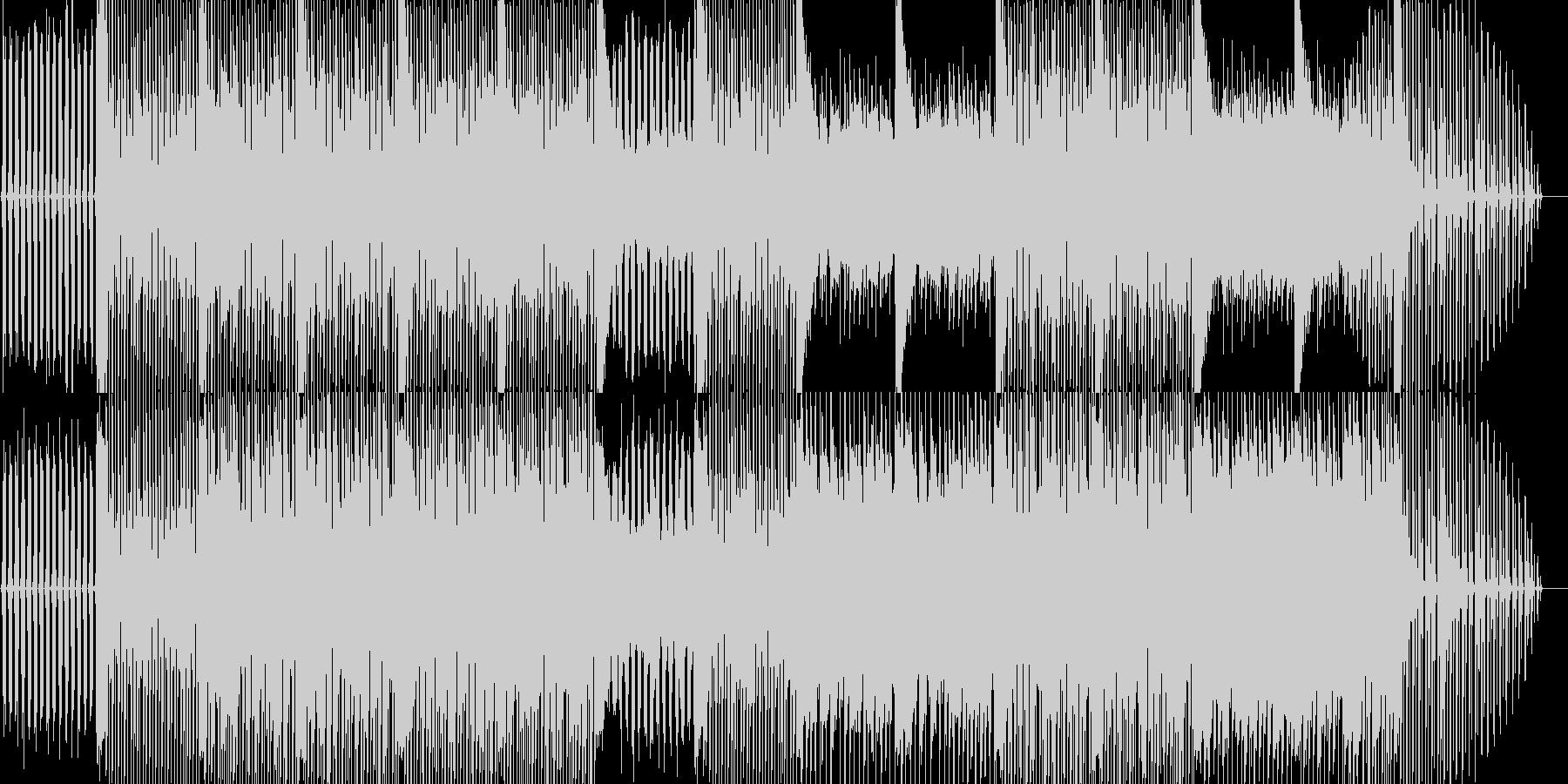 ロードムービー等にある明るく爽やかな曲の未再生の波形
