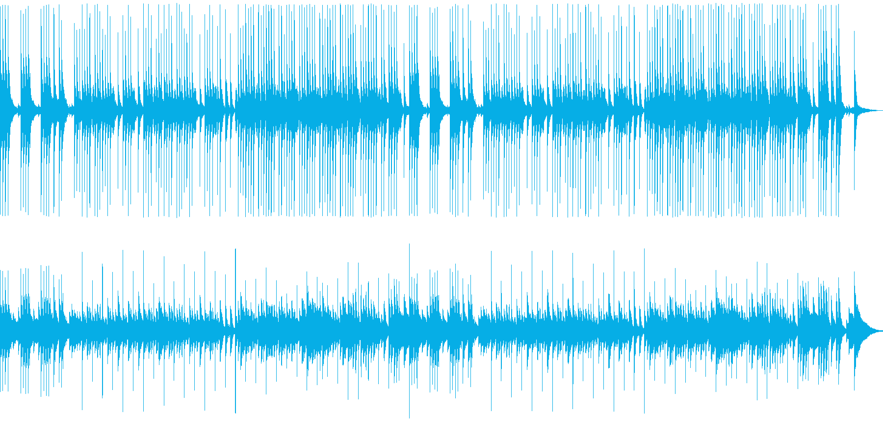 可愛らしいクッキングの時間の音楽です。の再生済みの波形
