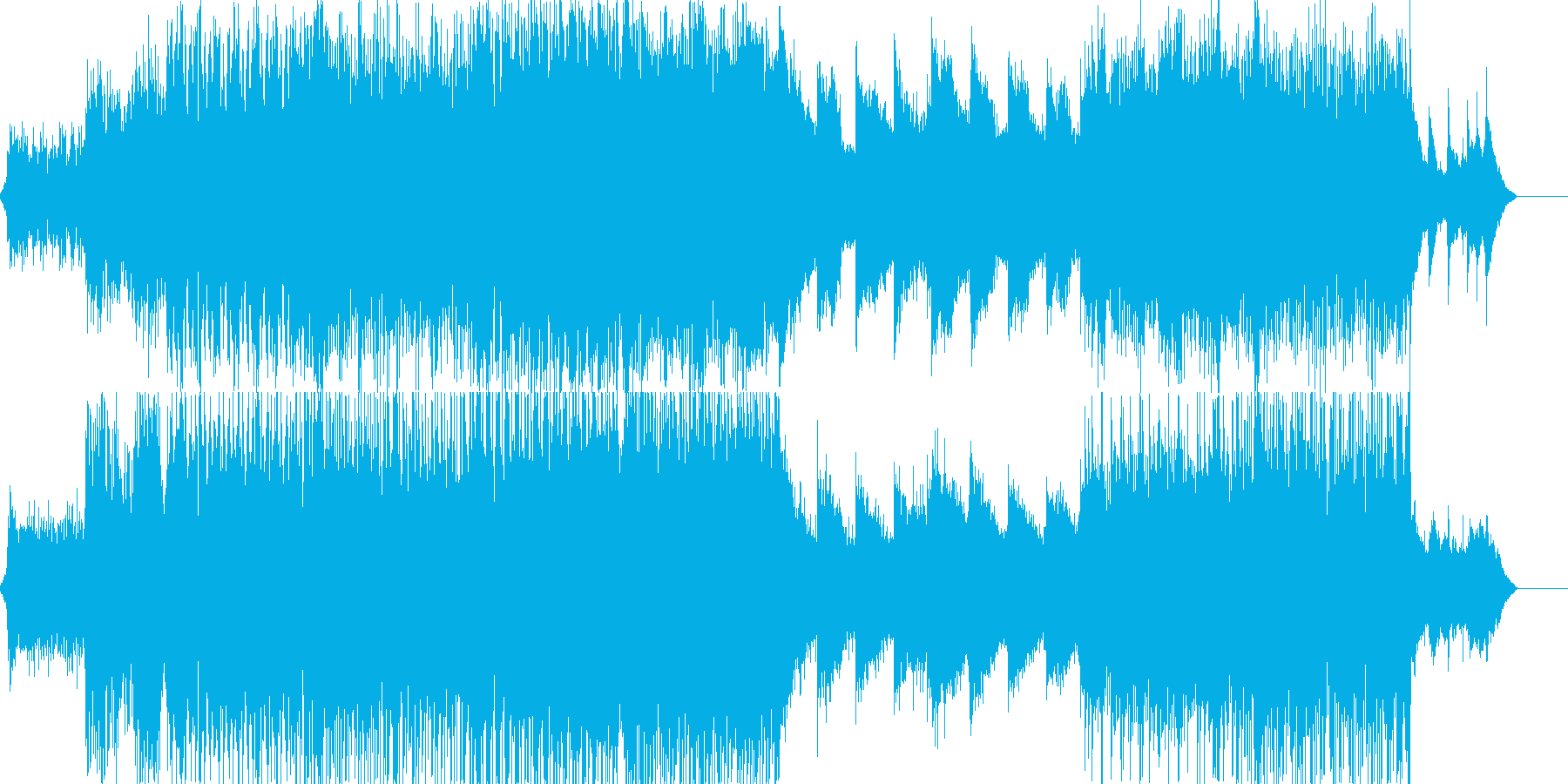 クールで壮大なテクノ&ストリングスの再生済みの波形